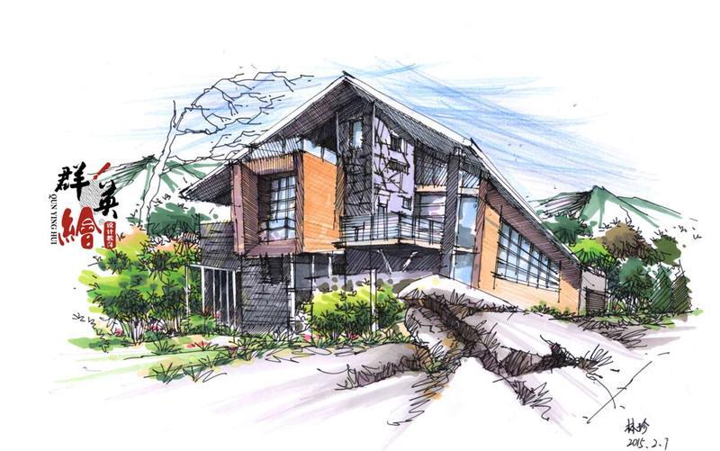 学员建筑手绘作品